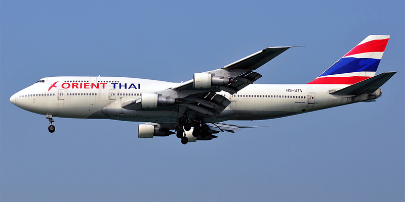Самолет Боинг-747-300 авиакомпании Orient Thai Airlines