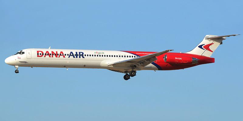 Самолет MD-83 авиакомпании Dana Air