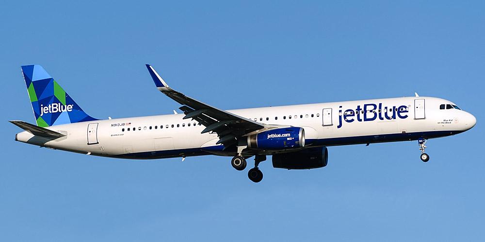 Самолет Airbus A321 авиакомпании JetBlue