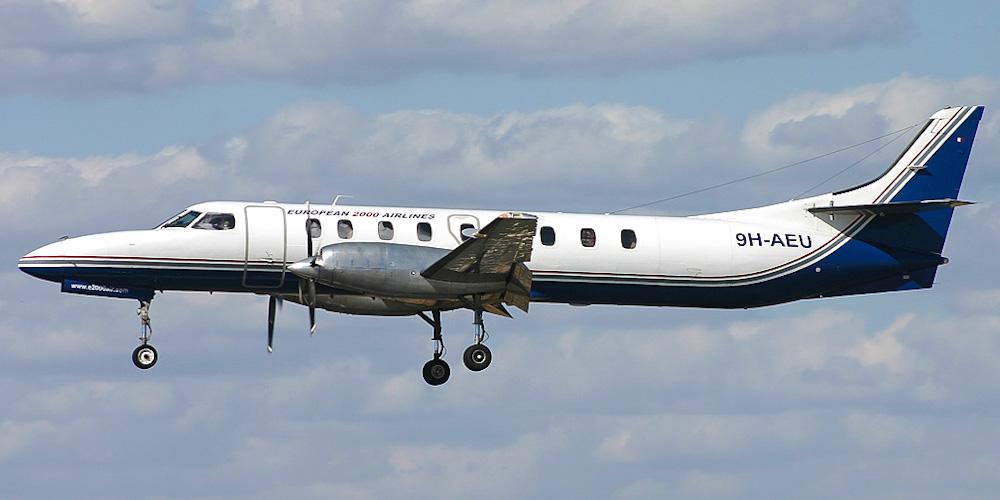 Самолет Fairchild Metro авиакомпании European 2000 Airlines