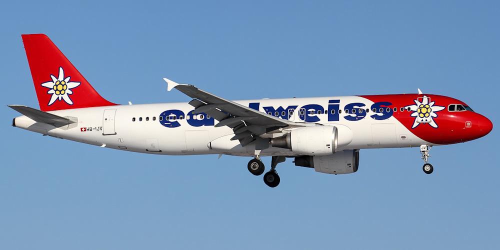 Самолет Airbus A320 авиакомпании Edelweiss Air